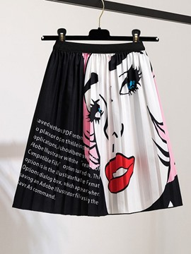 Ericdress Geometric Pleated Mini Skirt Fashion Skirt