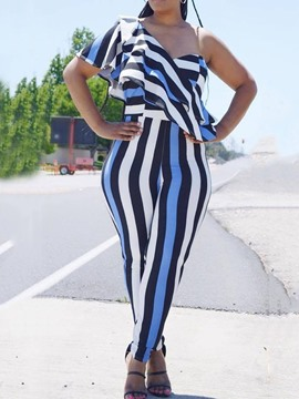Ericdress Stripe Full Length Sexy Slim Pencil Pants Jumpsuit