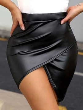 Ericdress Mini Skirt Plain Asymmetric Fashion Skirt