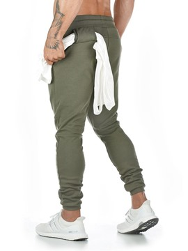 Ericdress Plain Lace-Up Sports Casual Pants
