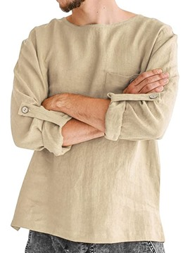 Ericdress Round Neck Plain European Loose Fall Shirt