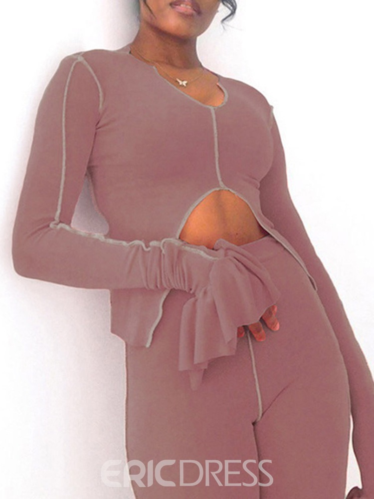 Ericdress Polyester Solid Breathable Long Sleeve Full Length Clothing Sets