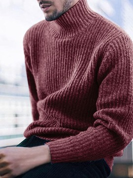 Ericdress Plain Turtleneck Standard Casual Winter Sweater