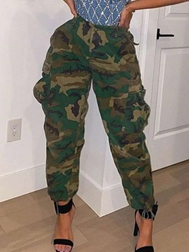 Ericdress Loose Camouflage Pocket Ankle Length Casual Pants