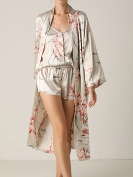Ericdress Floral Casual Print Sleep Top Pajama Suit