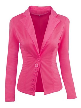Ericdress Plain Long Sleeve Single-Breasted Standard Regular Casual Blazer
