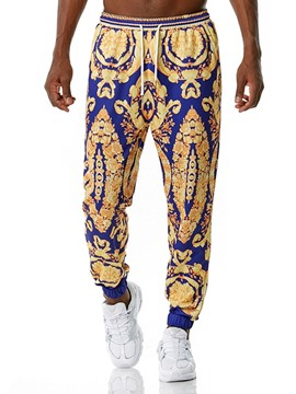 Ericdress Floral Print Mid Waist Sports Casual Pants
