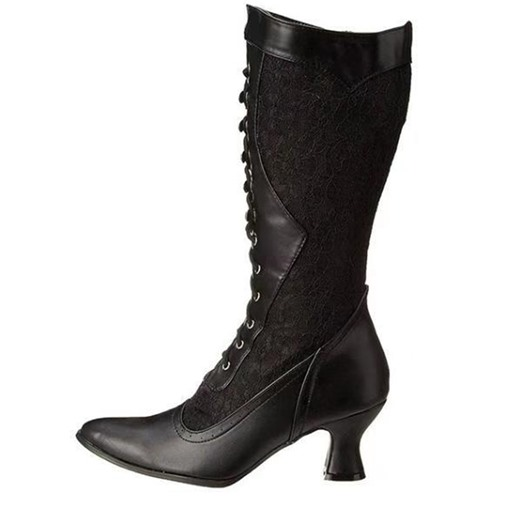 Ericdress Pointed Toe Plain Lace-Up Front Casual Boots
