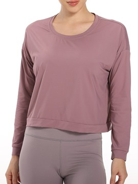 Ericdress Nylon Solid Quick Dry Female Pullover Tops
