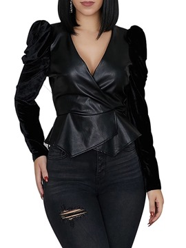 Ericdress Women's Slim Standard PU Jacket