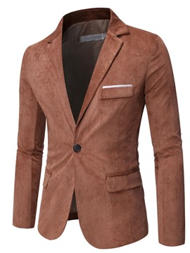 Ericdress Pocket Slim One Button Blazer