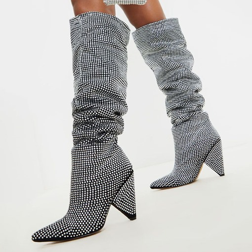 Ericdress Pointed Toe Slip-On Casual Boots