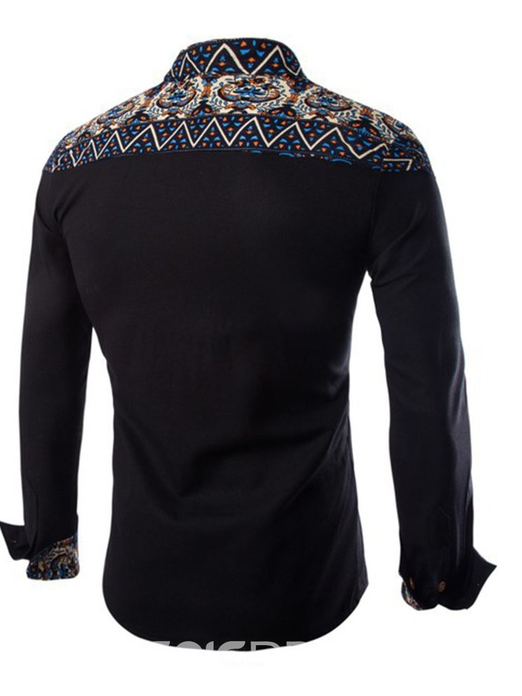 Ericdress Print Ethnic Lapel Single-Breasted Fall Shirt