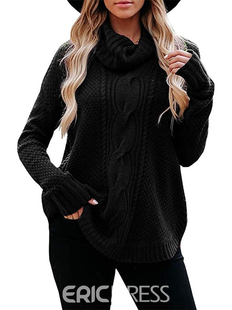 Ericdress Regular Mid-Length Long Sleeve Sweater