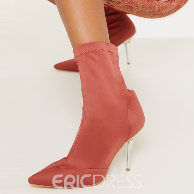 Ericdress Slip-On Plain Pointed Toe Casual Boots