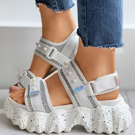 Ericdress Buckle Chunky Heel Open Toe Platform Sandals