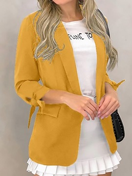 Ericdress Long Sleeve Notched Lapel Plain Standard Regular Casual Blazer
