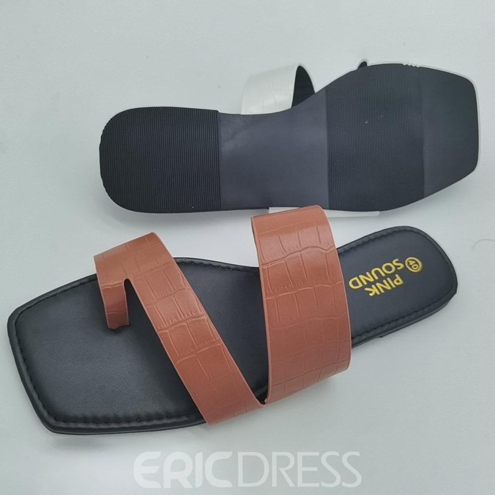 Ericdress Flat With Slip-On Toe Ring Sexy Slippers