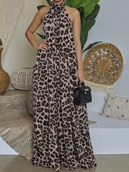 Ericdress Full Length Leopard Fashion Loose Womens Jumpsuit