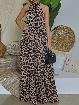 Ericdress Full Length Leopard Fashion Loose Women's Jumpsuit