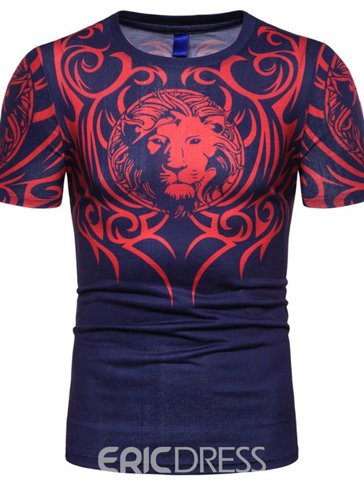Ericdress Casual Round Neck Animal Short Sleeve Loose T-shirt