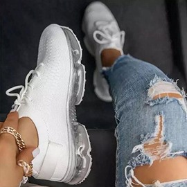Ericdress Round Toe Low-Cut Upper Lace-Up Plain Sneakers
