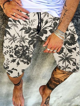 Ericdress Print Straight Lace-Up Casual Pants