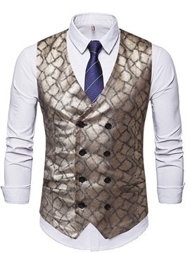 Ericdress V-Neck Print Formal Fall Waistcoat