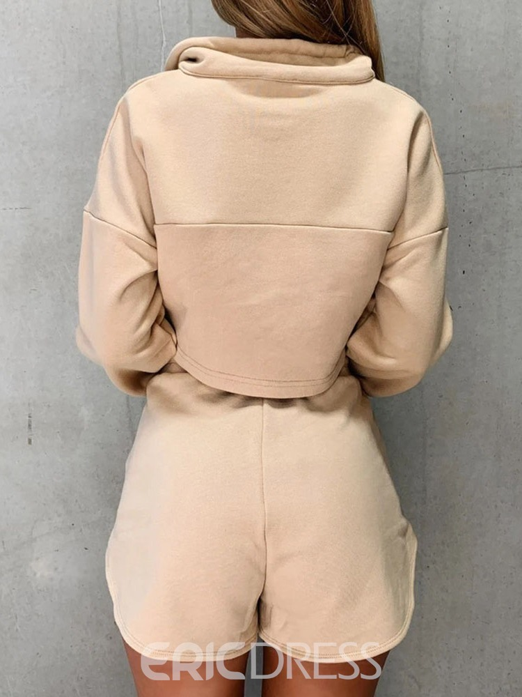 Ericdress Solid Cotton Blends Thermal Pullover Badminton Clothing Sets
