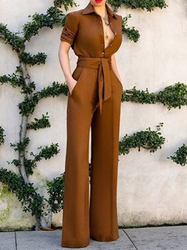 Ericdress Fashion Plain Lace-Up Straight Two Piece Sets
