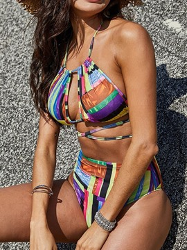 Ericdress Tankini Set Color Block Sexy Slim Swimwear