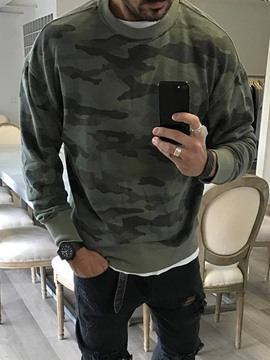 Ericdress Pullover Print Camouflage Casual Round Neck Hoodies