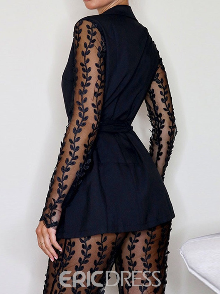 Ericdress Sexy Plain See-Through Two Piece Sets