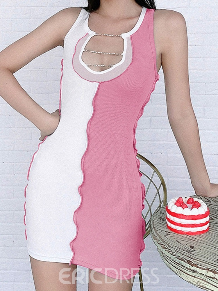 Ericdress Color Block Polyester Breathable Running Female Tops