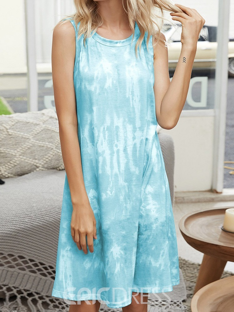 Ericdress Single Gradient Sleeveless Casual Nightgowns