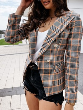 Ericdress Stripe Notched Lapel Long Sleeve Standard Regular Casual Blazer