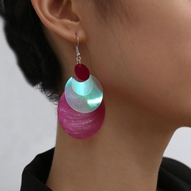 Ericdress Plastic Color Block Anniversary Earrings