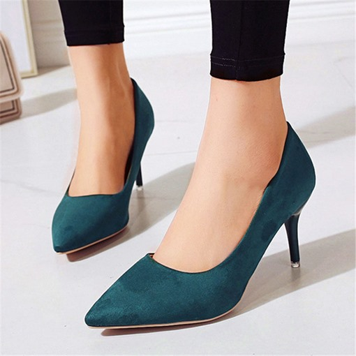 Ericdress Slip-On Pointed Toe Stiletto Heel Low-Cut Upper Shoes
