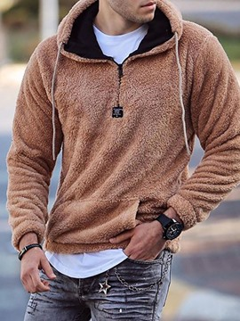 Ericdress Thick Pullover Pocket Slim Fall Hoodies