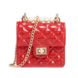 Ericdress Plaid Lock PVC Flap Crossbody Bags