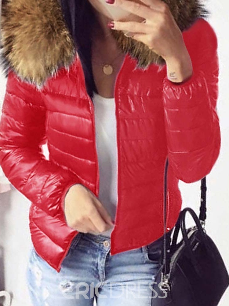 Ericdress Zipper Standard Cotton Padded Jacket