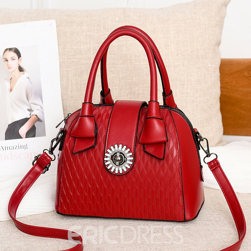 Ericdress PU Embossing Pillow Tote Bags