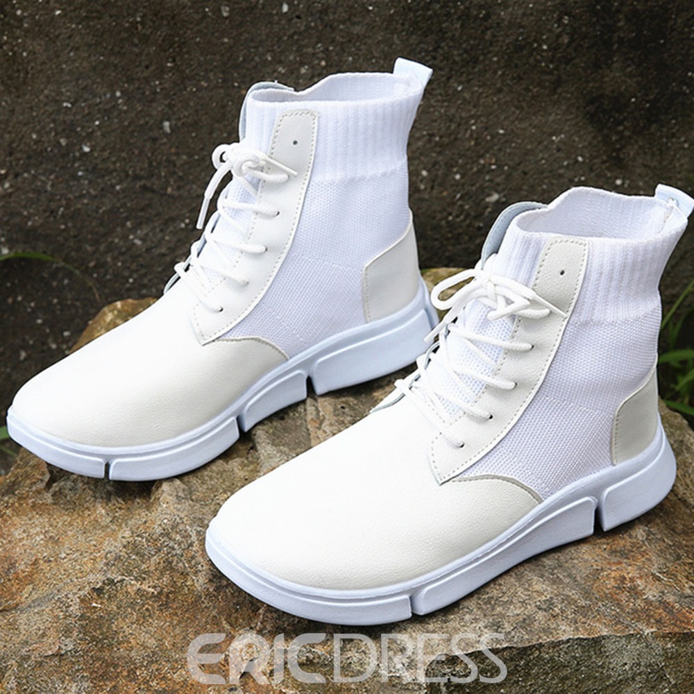 Ericdress Flat With Round Toe Plain Casual Boots