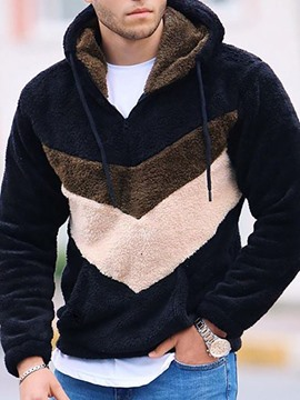 Ericdress Pullover Color Block Winter Pullover Hoodies