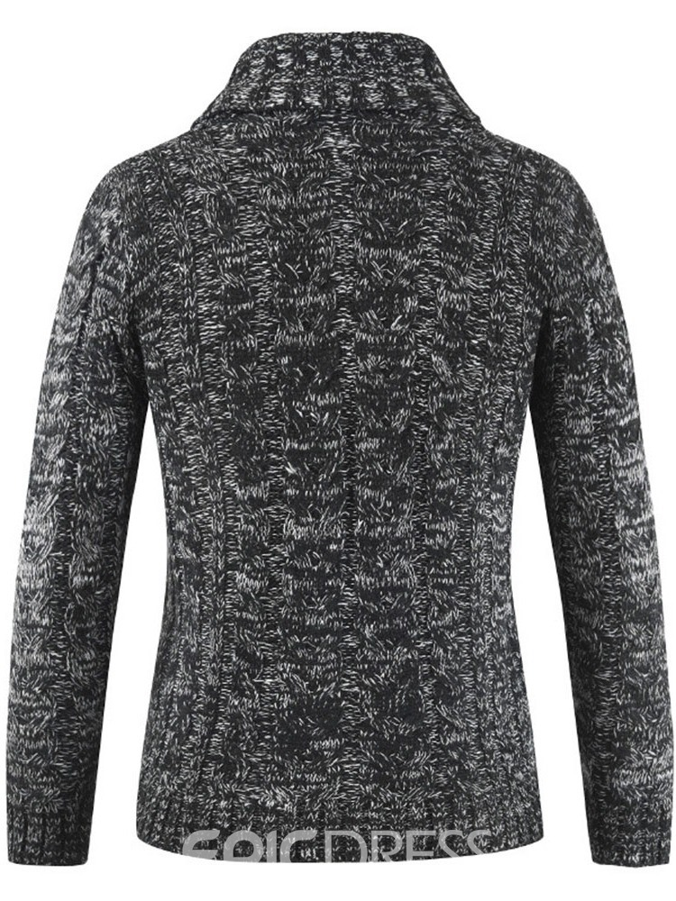 Ericdress Plain Lapel Standard Spring Single-Breasted Men's Sweater