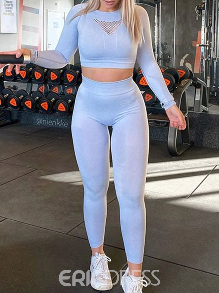 Ericdress Polyester Thermal Solid Full Length Running Clothing Sets
