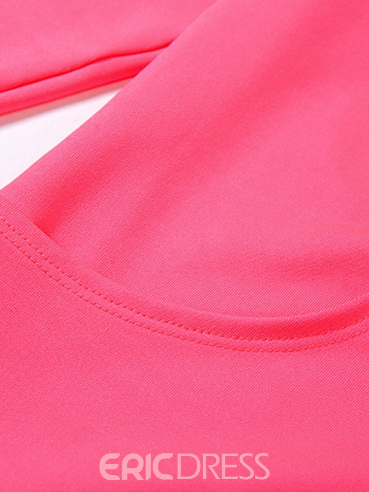 Ericdress Anti-Sweat Solid Polyester Zipper Running Clothing Sets