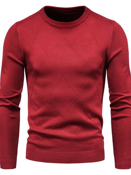 Ericdress Round Neck Plain Standard Winter European Sweater