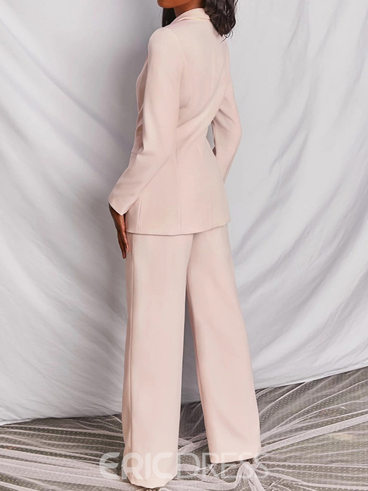 Ericdress Two-Piece Blazer Suit Button Fashion Blazer Long Sleeve Full Length Suit