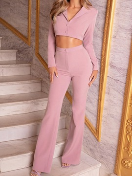 Ericdress Jacket Simple Plain Two Piece Sets